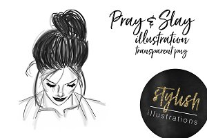 Pray and Slay Girl