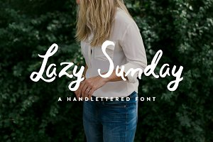 Lazy Sunday - Hand Lettered Script