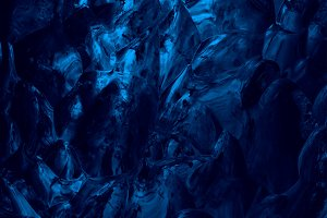 Dark Blue Glacier Ice