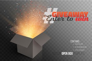 Giveaway Competition Vector Template