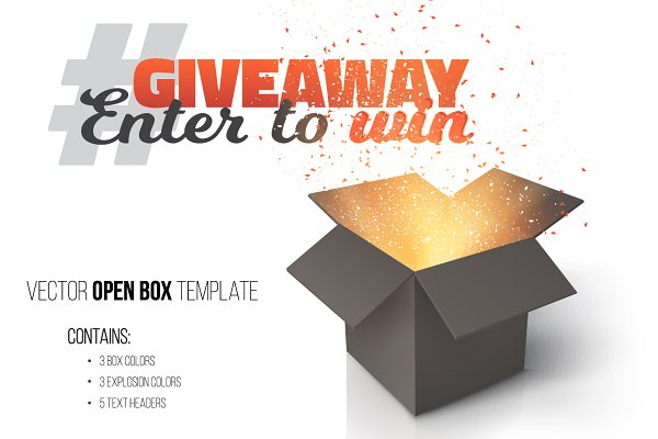 Giveaway Competition Vector Templat…