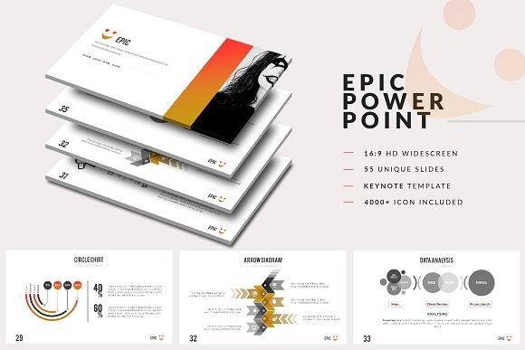 Epic powerpoint template presentation templates creative market toneelgroepblik Choice Image
