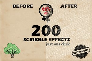 200 Scribble Effects + Bonus