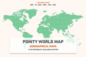 Pointy World Map
