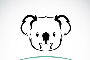 Vector of a koala bear design.