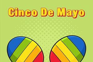 Colorful Mexican Maracas