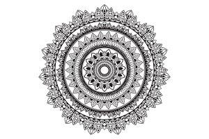 geometric circle pattern - mandala