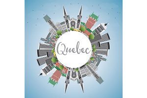 Quebec Skyline with Gray Buildings