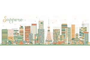 Abstract Sapporo Skyline