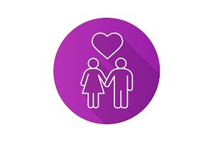 Couple in love icon. Vector