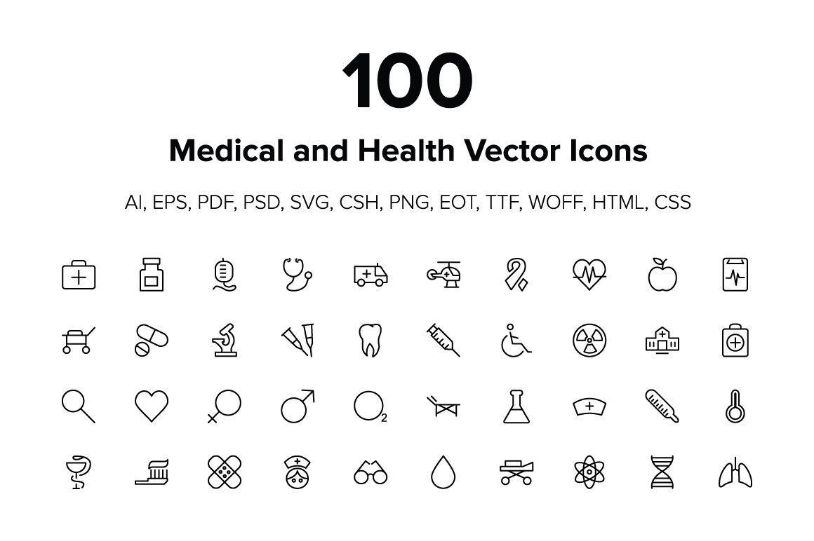 Medical and health vector icons icons creative market stopboris Images