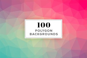 *SALE* 100 Polygon Background Images