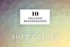 10 Polygon Backgrounds - Soft Colors