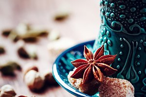 Hot drink with spices