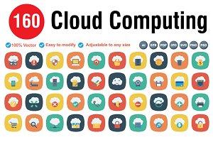 Cloud Computing Flat Square