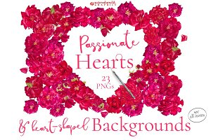 Red Roses-Backgrounds&Hearts