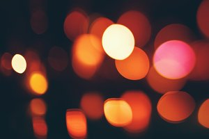 Bokeh lights on dark background