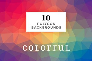 10 Polygon Backgrounds - Colorful