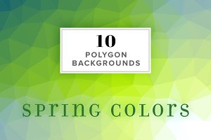 10 Polygon Backgrounds - Spring