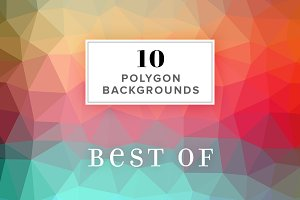 10 Polygon Backgrounds - Best Of