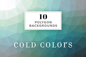 10 Polygon Backgrounds - Cold Colors