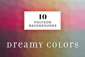 10 Polygon Backgrounds Dreamy Colors