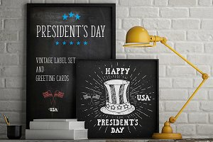 President's Day Vintage Labels v2