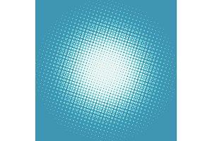 Halfton white spot on a blue background