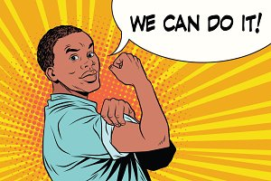we can do it Protester black man African American