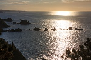 Atlantic Biskaya coastline landscape