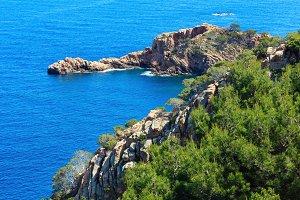 Summer Mediterranean sea coastline