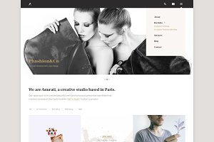 Anurati - Website PSD Template