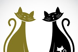Vector of a cats. Animal.