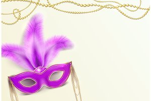Vector illustration of Mardi Gras holiday background
