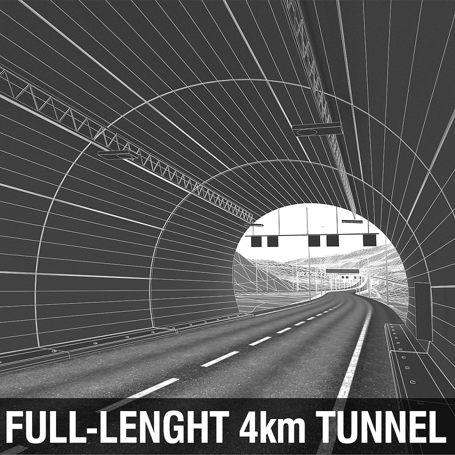 Full-Lenght Tunnel with Terrain