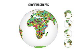Globe in Stripes