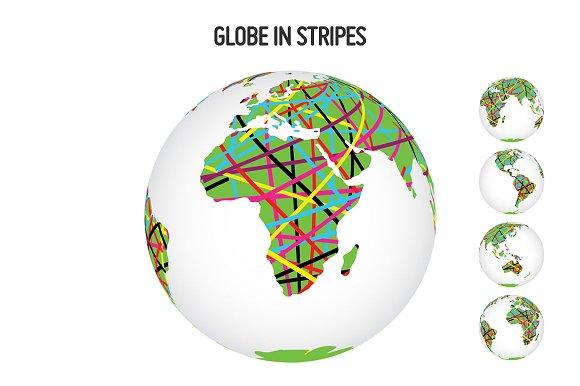 Globe in Stripes
