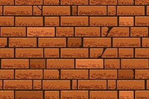 Red brick wall seamless background