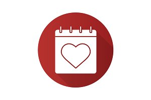 Valentine's Day icon. Vector