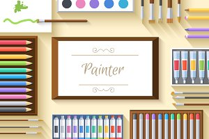 2 painter table workspace artboard