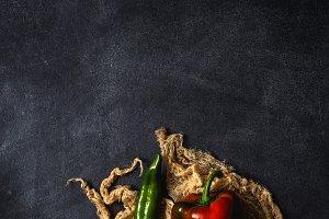 Fresh vegetables dark