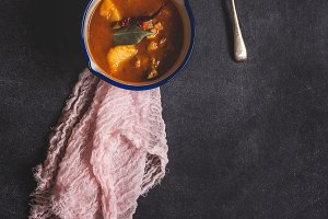 Pork stew with vegetables