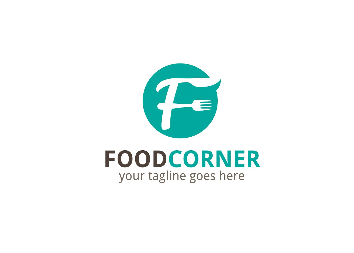 Food Corner Letter F Logo Logo Templates Creative Market