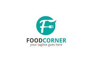 Food Corner Letter F Logo