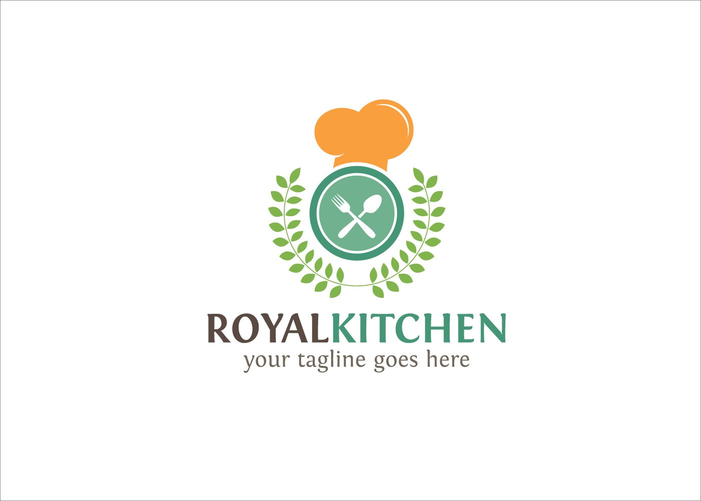 royal kitchen logo logo templates creative market - Kitchen Logo