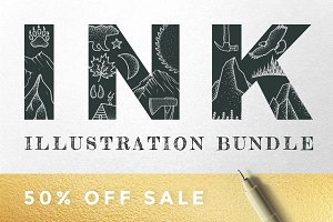 Ink Illustration Bundle (50% Off)