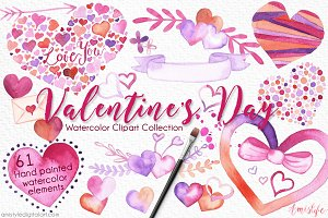 Valentine's Day Clipart Set