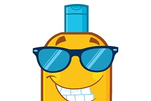 Bottle Sunscreen With Sunglasses