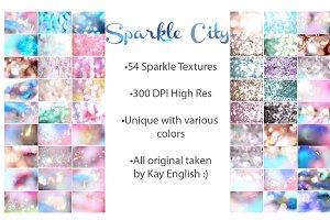 Sparkle City bokeh bundle, 54 images