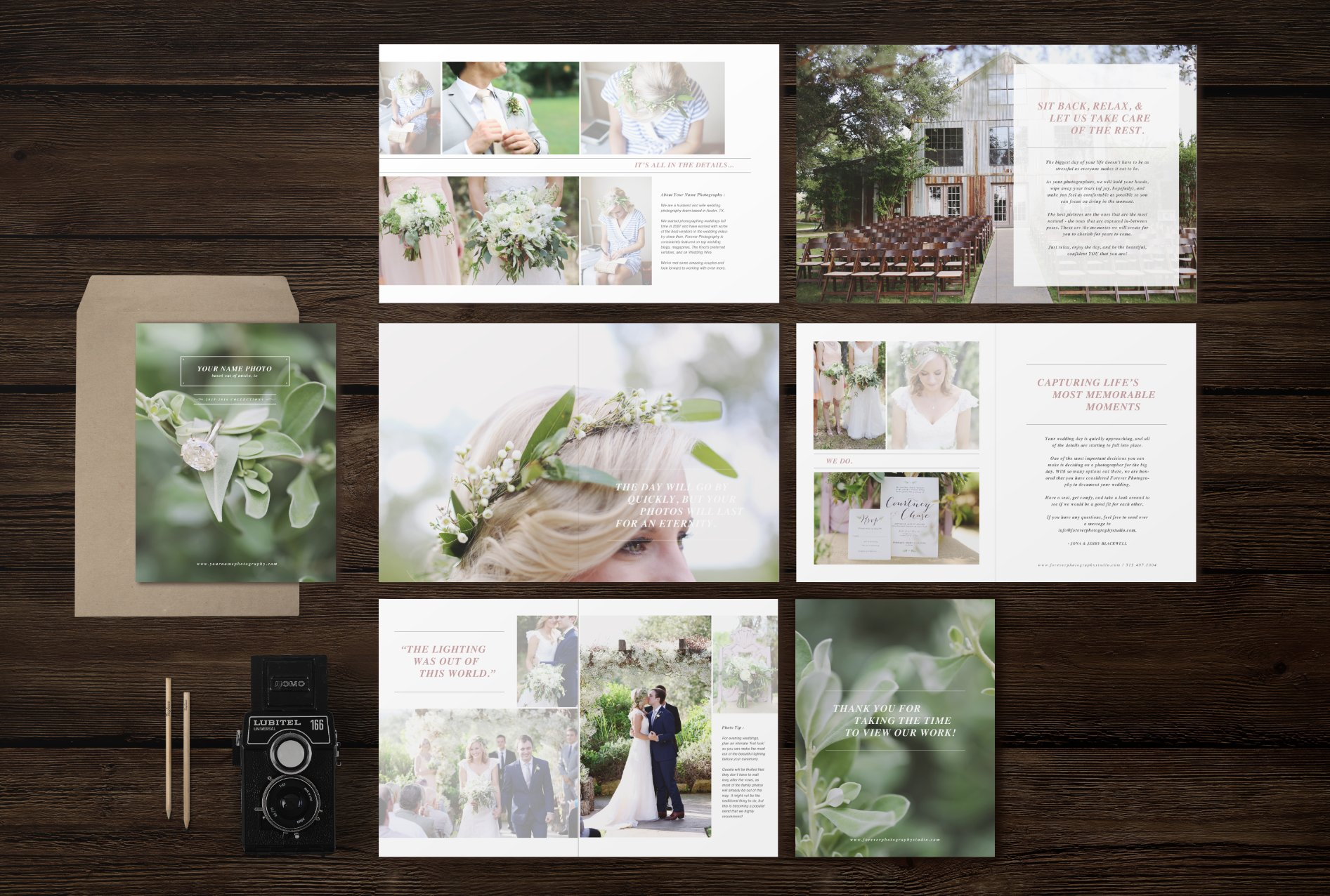 wedding magazine template brochure templates creative